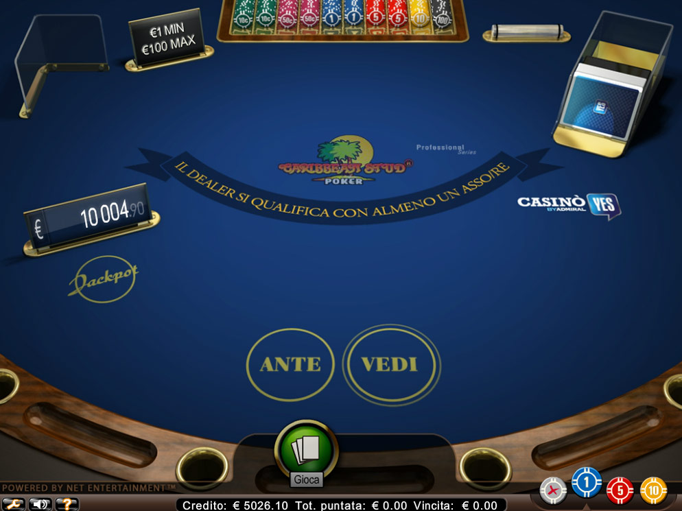 Caribbean Stud Poker Video Poker at Casino.com New Zealand